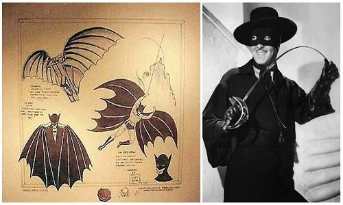 Batman is Inspired from Zorro and Leonardo Da Vinci
