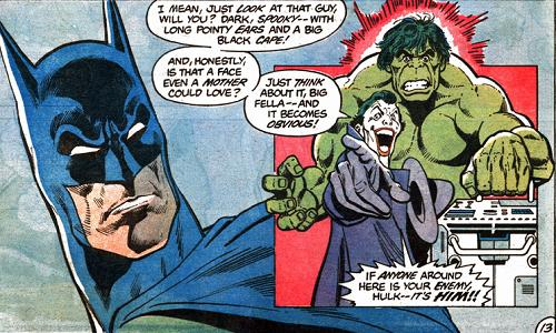Batman Defeated The Incredible Hulk
