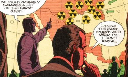 President Richard Nixon in Watchmen Alternate Universe