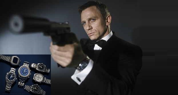 All The Watches of James Bond [Infographic]